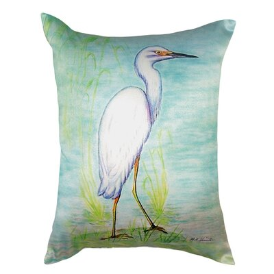 Snowy Egret Indoor/Outdoor Lumbar Pillow