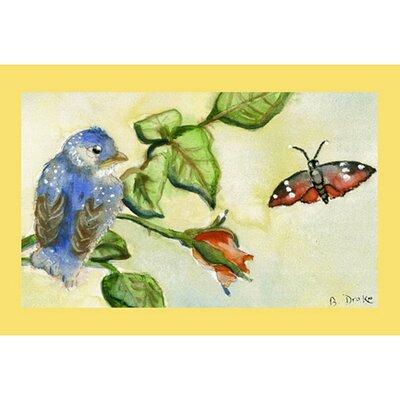Garden Bird Doormat Size: 30 H x 50 W