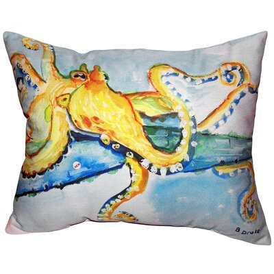 Octopus Indoor/Outdoor Lumbar Pillow Size: Extra Large
