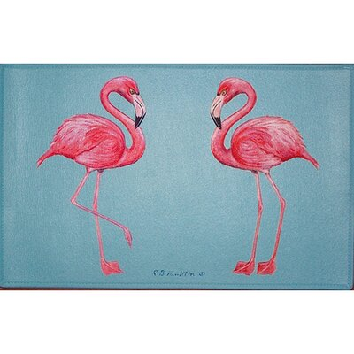 Coastal Flamingo Doormat Size: 30 H x 50 W