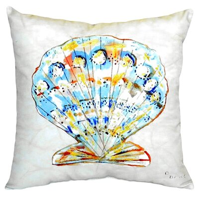 Scallop Indoor/Outdoor Throw Pillow
