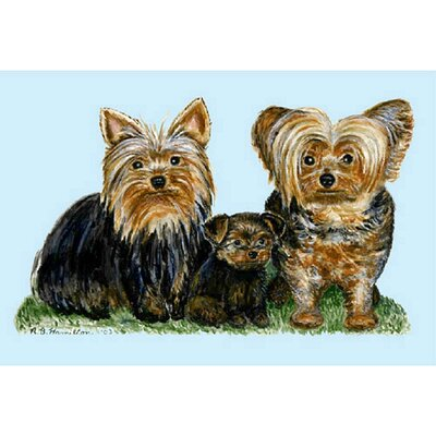 Pets Yorkies Doormat Mat Size: Rectangle 18 x 26