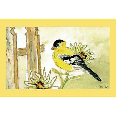 Garden Goldfinch Doormat Size: 30 H x 50 W