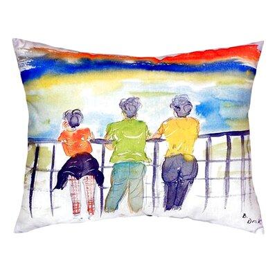 Ladies Looking Indoor/Outdoor Lumbar Pillow