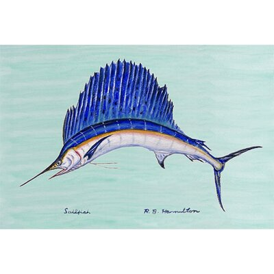 Coastal Sailfish Doormat Mat Size: Rectangle 18 x 26