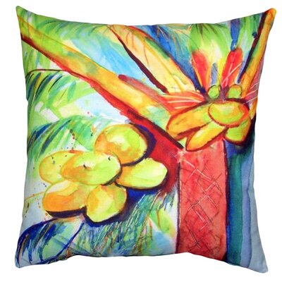 Cocoa Nut Tree Indoor/Outdoor Throw Pillow