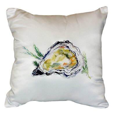 Oyster Shell Indoor/Outdoor Throw Pillow Color: White