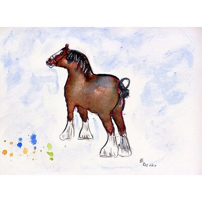 Clydesdale Doormat Mat Size: Rectangle 26 x 42