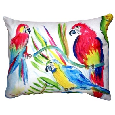 Three Parrots Indoor/Outdoor Lumbar Pillow