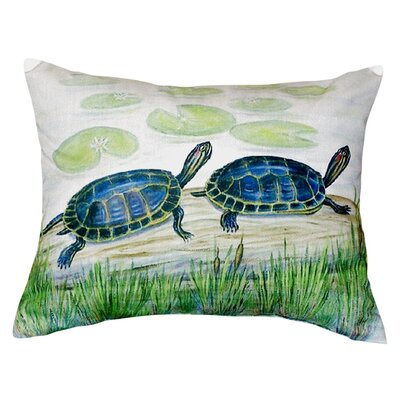 Two Turtles Indoor/Outdoor Lumbar Pillow