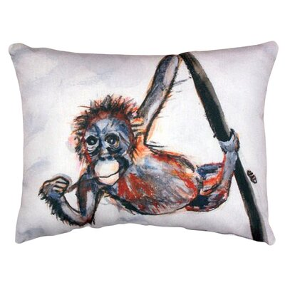 Monkey Indoor/Outdoor Lumbar Pillow