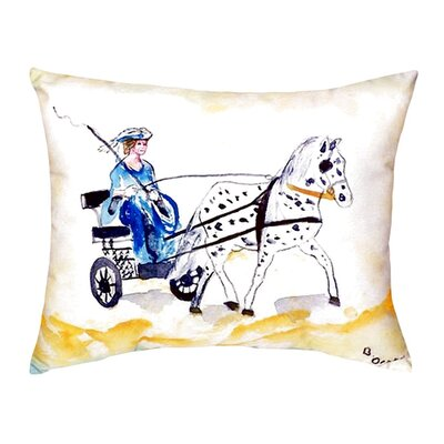 Carriage and Horse Indoor/Outdoor Lumbar Pillow