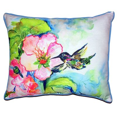 Hummingbird and Hibiscus Indoor/Outdoor Lumbar Pillow Size: Large