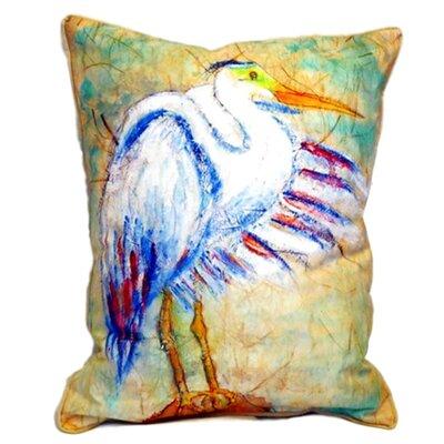 Egret on Rice Indoor/Outdoor Lumbar Pillow