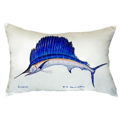 Sailfish Indoor/Outdoor Lumbar Pillow Color: White