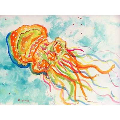 Jellyfish Doormat Mat Size: Rectangle 16 x 22