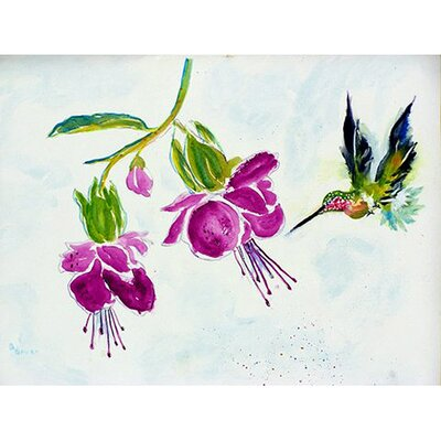 Hummingbird Doormat Mat Size: Rectangle 16 x 22
