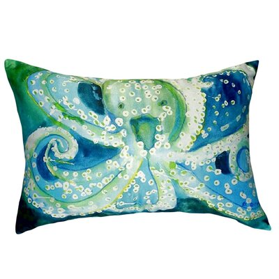 Octopus Indoor/Outdoor Lumbar Pillow