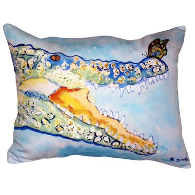 Croc and Butterfly Indoor/Outdoor Lumbar Pillow