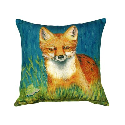 Fox Indoor/Outdoor Throw Pillow
