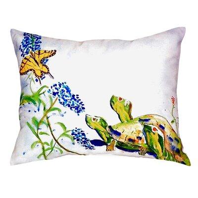 Turtles and Butterfly Indoor/Outdoor Lumbar Pillow