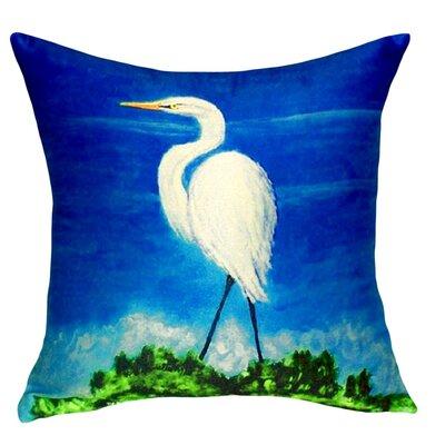 Great Egret Indoor/Outdoor Throw Pillow
