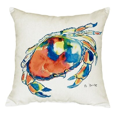Dungeness Crab Indoor/Outdoor Throw Pillow