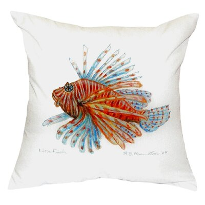 Lion Fish Guest Towel Indoor/Outdoor Throw Pillow