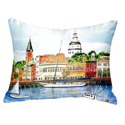 Annapolis City Dock Indoor/Outdoor Lumbar Pillow