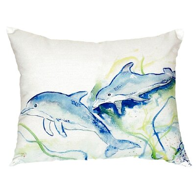 Dolphins Indoor/Outdoor Lumbar Pillow