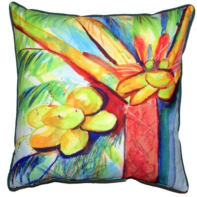 Cocoa Nut Tree Indoor/Outdoor Throw Pillow Size: Large