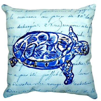 Sea Turtle Script Indoor/Outdoor Lumbar Pillow
