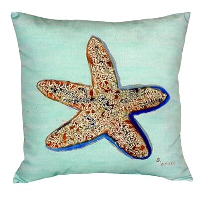 Starfish Indoor/Outdoor Throw Pillow
