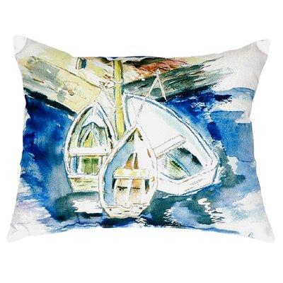 Three Row Boats Indoor/Outdoor Lumbar Pillow