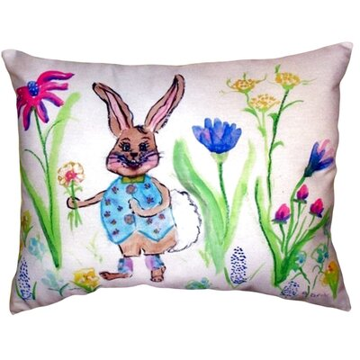 Happy Bunny Indoor/Outdoor Lumbar Pillow