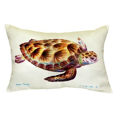 Sea Turtle Indoor/Outdoor Lumbar Pillow Color: White