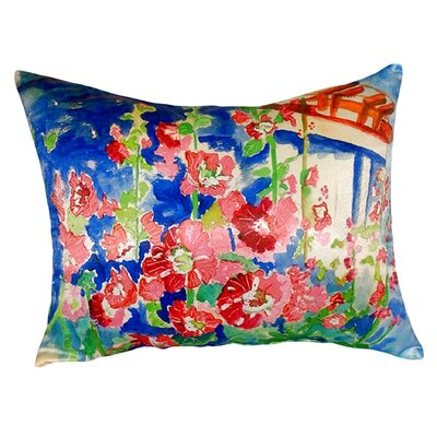 Hollyhocks Indoor/Outdoor Lumbar Pillow