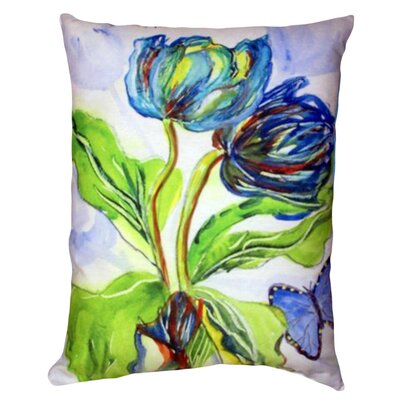 Tulips and Morpho Indoor/Outdoor Lumbar Pillow