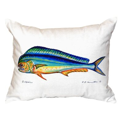 Dolphin Indoor/Outdoor Lumbar Pillow