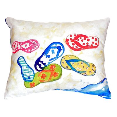 Six Flip Flops Indoor/Outdoor Throw Pillow