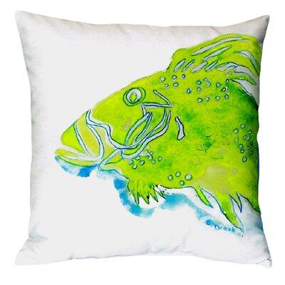 Fish Indoor/Outdoor Throw Pillow