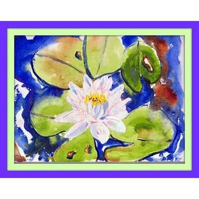 Lily Pad Doormat Mat Size: Rectangle 16 x 22