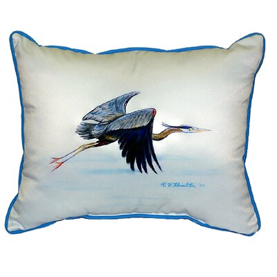Eddies Heron Indoor/Outdoor Lumbar Pillow Size: Large