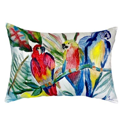 Parrot Family Indoor/Outdoor Lumbar Pillow
