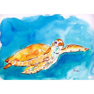 Sea Turtle Doormat Rug Size: 26 x 42