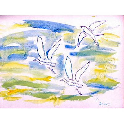 Three Gulls Doormat Mat Size: Rectangle 26 x 42