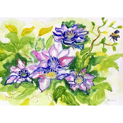 Clematis Doormat Rug Size: Rectangle 16 x 22