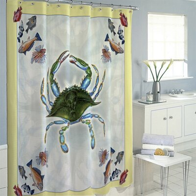 Crab and Fish Shower Curtain
