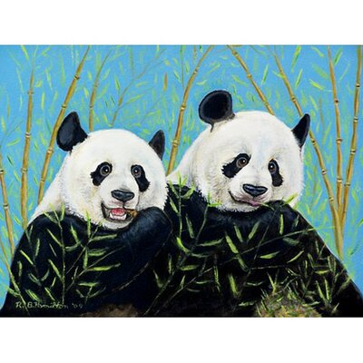 Pandas Doormat Mat Size: Rectangle 26 x 42