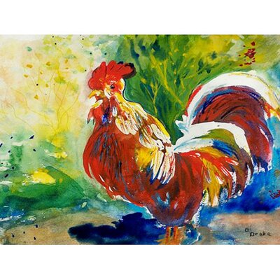 Rooster Doormat Mat Size: Rectangle 26 x 42